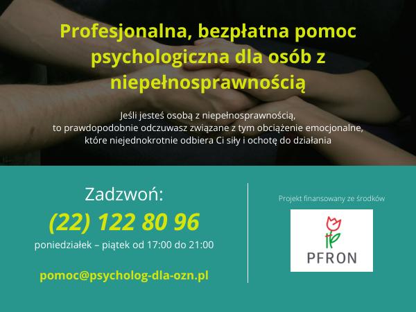 Ilustracja do informacji: Bezpłatna pomoc psychologiczna dla osób z niepełnosprawnościami